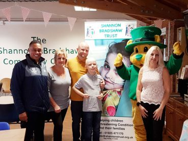Shannon Bradshaw Trust helps Callum Foy on his treatment journey