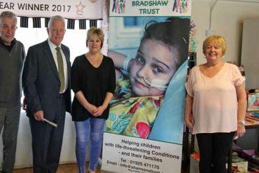 Cheshire Masons aid Shannon Bradshaw Trust